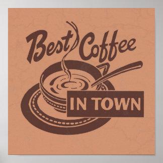 Poster Art de mur de café-restaurant