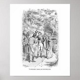 Poster Art de mur de dames de Jane Austen de fierté et de