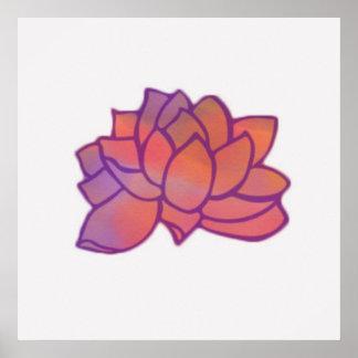 Poster Art de mur de Lotus