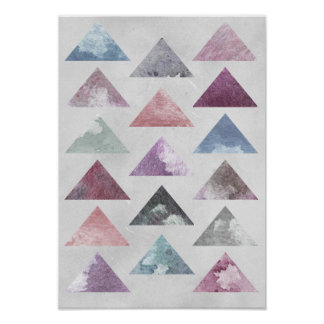 Poster Art de mur de triangles