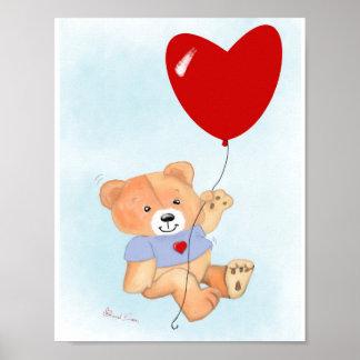 Poster Art de mur d'ours de nounours
