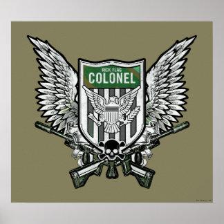 Poster Art de tatouage de crête à ailes par drapeau du