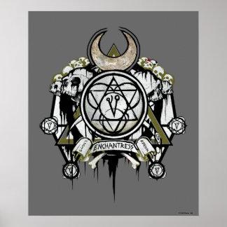 Poster Art de tatouage de symboles d'enchanteresse du