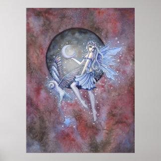 Poster Art d'imaginaire de fée et de hibou de collecteur