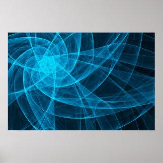 Poster Art d'ordinateur abstrait d'étoile de Tulles dans