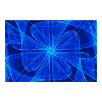 Poster Art d'ordinateur bleu de propulseur abstrait de