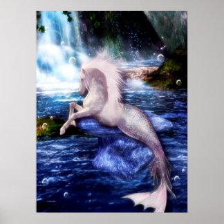 Poster Art équin d'imaginaire de Hippocamp Merhorse