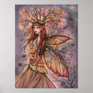 Poster Art féerique d'imaginaire de la Reine d'automne