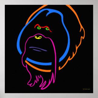 Poster Art minimal pour l'orang-outan de Sumatran