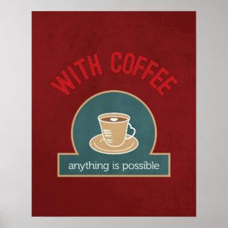 Poster Art moderne de cuisine de citation de café