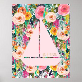 Poster Art nautique de crèche d'impression de mur de