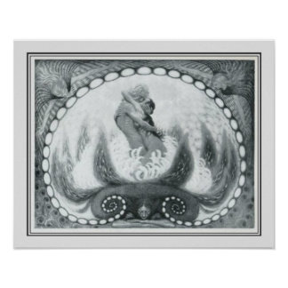 """Poster Art Nouveau """"de fleur de Lotus"""" par Fidus"""