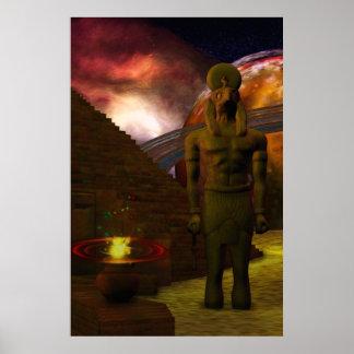 Poster Art numérique 3D en hausse de l'Egypte