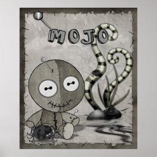 Poster Art populaire gothique de poupée de vaudou de MOJO