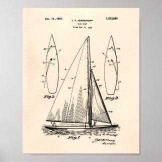 Poster Art vieux Peper de brevet du bateau à voile 1927