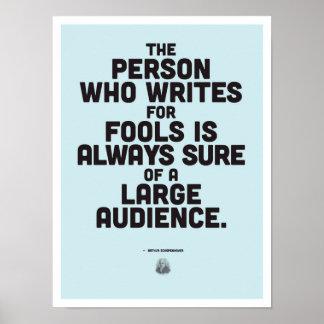 Poster Arthur Schopenhauer - affiche inspirée de citation