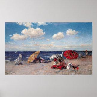 Poster Au bord de la mer