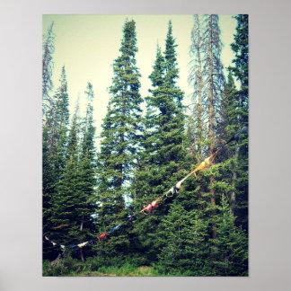 Poster Aucuns soutiens-gorge permis dans la forêt