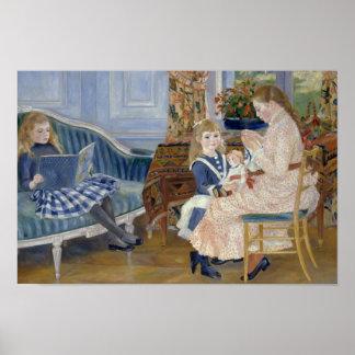Poster Auguste Renoir - l'après-midi des enfants chez