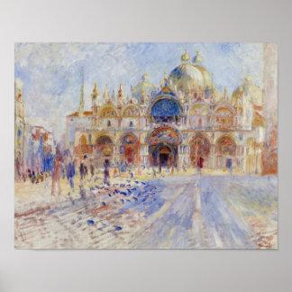 Poster Auguste Renoir - Piazza San Marco, Venise