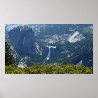 Poster Automnes du Nevada de la traînée Yosemite de