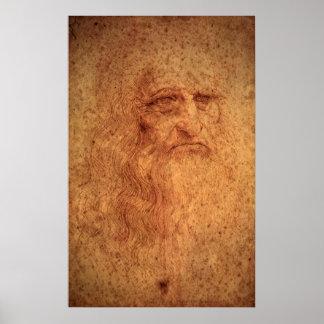 Poster Autoportrait d'art de Renaissance par Leonardo da