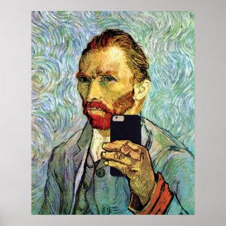 Poster Autoportrait de Selfie de portable de Vincent van