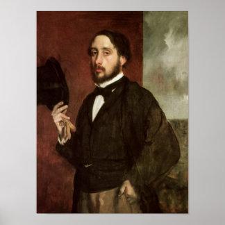 Poster Autoportrait d'Edgar Degas |, c.1862