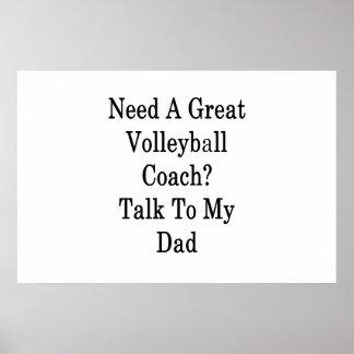 Poster Ayez besoin d'un grand entretien d'entraîneur de