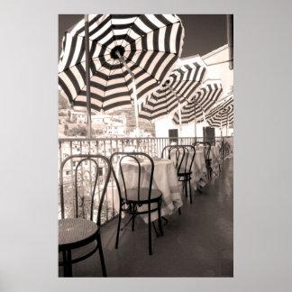 Poster Balcon étrange de restaurant, Italie