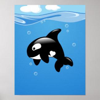 Poster Baleine d'orque dans l'océan