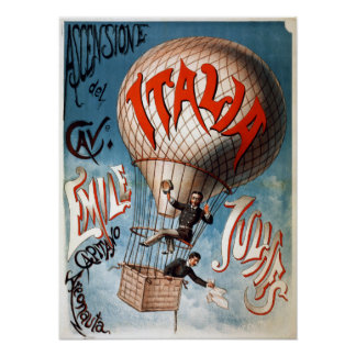 Poster Ballon de Vintage Ascension del Cavaliere Early