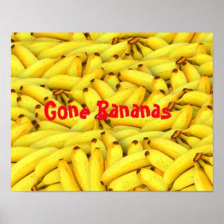Poster Bananes allées