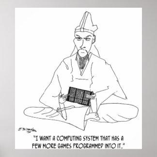 Poster Bande dessinée 0145 d'ordinateur
