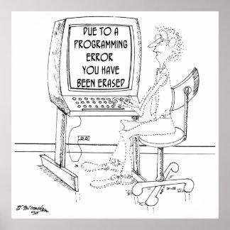 Poster Bande dessinée 1164 d'ordinateur