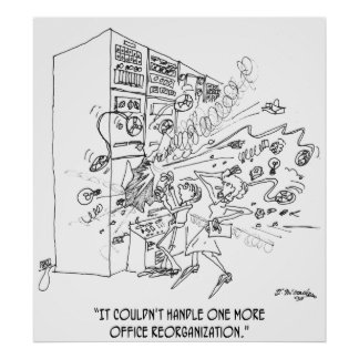 Poster Bande dessinée 1210 de réorganisation