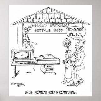 Poster Bande dessinée 1331 d'ordinateur