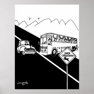 Poster Bande dessinée 3251 d'autobus