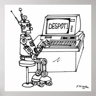 Poster Bande dessinée 3624 de robot