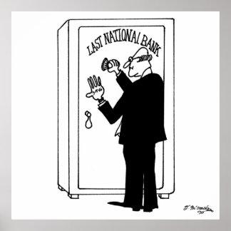 Poster Bande dessinée 4011 de banque