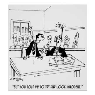 Poster Bande dessinée 5299 d'avocat