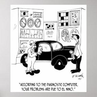 Poster Bande dessinée 6768 de mécanicien