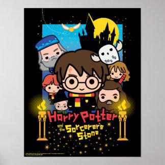 Poster Bande dessinée Harry Potter et la pierre du