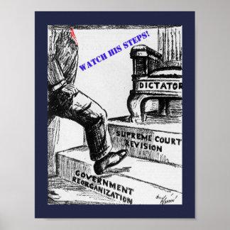 Poster Bande dessinée politique d'anti atout - vieille