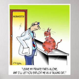 Poster Bande dessinée vétérinaire 9480