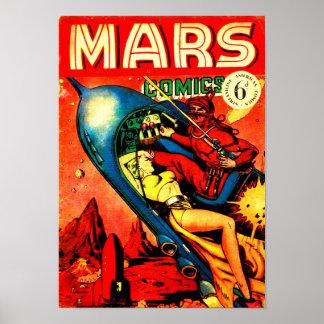 Poster Bandes dessinées de Mars