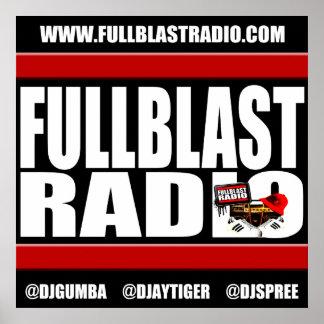 Poster Bannière par radio 2017, 24x24 de Fullblast