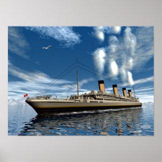 Poster Bateau titanique - 3D render.j