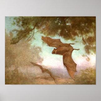 Poster Battes de vampire par le cygne de la CE, animal