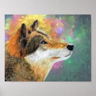 Poster Beau loup